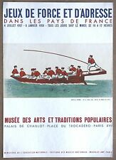 VIntage Sculling and Rowing French Competition 1800s Litho from 1957 exhibit
