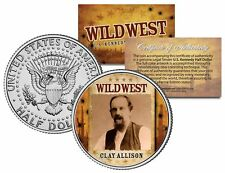 CLAY ALLISON * Wild West Series * JFK Kennedy Half Dollar U.S. Coin