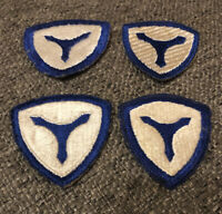 (4) Original WWII US Army Corps Patches  - Rare Green Backs - Mint Condition !