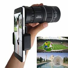 16x52 Zoom Hiking Monocular Telescope 66M/8000M HD Scope+Smart Phone Holder Clip