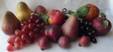 GROUP OF 13 GREAT VINTAGE ARTIFICIAL FAUX FRUIT DISPLAY DECOR