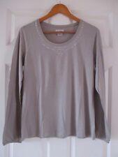 LA REDOUTE ANNE WEYBURN Stone Colour Gem Embellished Long Sleeve Top Sz M BNWOT