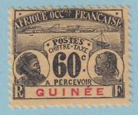 FRENCH GUINEA J14 POSTAGE DUE  MINT HINGED OG * NO FAULTS VERY FINE!