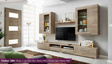 Wall Unit Entertainment Center Media TV Stand LED Modern Living Room Furniture