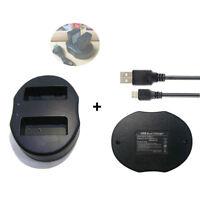 Battery USB Charger for PANASONIC CGR-S006E S006 LUMIX DMC-FZ28K DMC-FZ18 FZ8S
