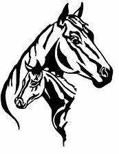 Horse & Foal vinyl car Decal / Sticker