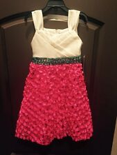 NWT Rare Editions Size 6 Pink Turquoise Sequins Bling Boutique Dress