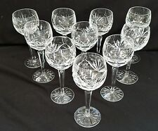 (10) Waterford Ashling Cut Crystal Balloon Wine Goblets Made in Ireland