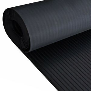 Wide/ board Ribbed rubber sheet 5mm thick wide 1.8m  van horse box Gym flooring