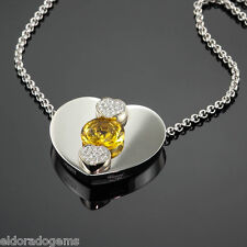 CHOPARD 3.50 CT. CITRINE 0.24 CT. DIAMOND PENDANT NECKLACE 793833-1001 18K GOLD