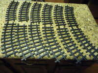 12 lot 1986 New Bright curved g-scale train tracks used toy plastic pre-owned