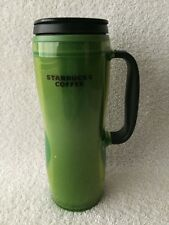 Starbucks Green Travel Coffee Mug With Handle 16 Ounce