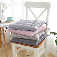 "16"" Cotton Seat Pads Dining Patio Home Kitchen Office Chair Cushions with Tie on"