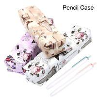 Retro Rose und Eiffelturm gedruckt Bleistift Fall Classic Style Pen Tasche