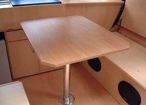 Pata Completa Pie de Mesa 70 cms Sistema Fiamma Autocaravana Camper Barco 4x4