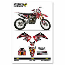 2002-2004 HONDA CRF 450 Solitaire Motocross Graphics Dirt Bike Graphics Deco