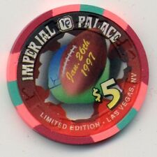 IMPERIAL PALACE VEGAS  CASINO $5 FOOTBALL 1997  CHIP