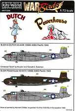 Kits World Decals 1/72 B-25H MITCHELL Bomber Dutch & Powerhouse