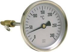 Thermomètre de fumée AFRISO 0° à 300° Diamètre 80 mm sonde de 150 mm