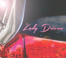 "LADY DRIVEN 8"" Lght Pink Car Decal /Sticker _  10% of Profit goes to Bright Pink"