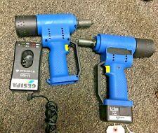 Gesipa Riveting Tool Kit 2 Rivet Gun Gesipa Accubird 14.4v  w/ Battery & Charger