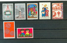 Netherlands tuberculosis sticker stamps 7 different
