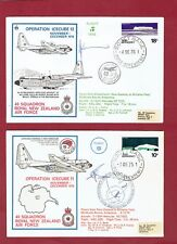 TWO (2) PILOT-SIGNED  'OPERATION ICECUBE'  FLOWN COVERS-ROYAL NEW ZEALAND A.F.