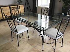 table de salle a manger en verre + 4 chaises