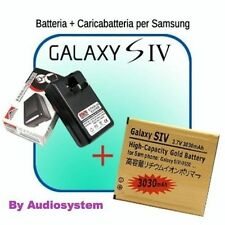 BATTERIA POTENZIATA + CARICABATTERIA per Samsung GALAXY S4 i9505 CARICA 3030 mAh