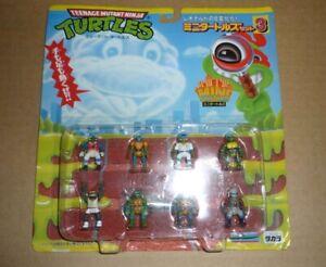 TMNT Ninja Turtles Japanese Leonardo Mini Mutants 8 Figures Set Japan NEW