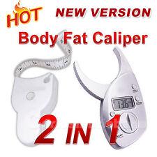 Body Fat caliper Electronic Digital Caliper + Tape Measure Pack High quality