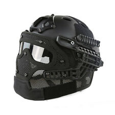 Airsoft Paintball Tactical Fast Helmet Mask Goggles System Protective Gear