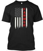 American Flag Farmer Hanes Tagless Tee T-Shirt