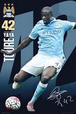 Yaya Toure SIGNATURE SERIES Manchester City FC EPL UK Import Soccer POSTER