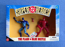 THE FLASH AND BLUE BEETLE WITH THE ATOM DC SUPER HEROES HASBRO 5 INCH FIGURE
