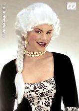 Vestido de lujo Marie Antoinette blanco señoras de la Peluca & Largo Trenza Georgiano Regencia Nuevo