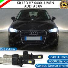 KIT LED H7 AUDI A3 8V 6000K XENON NO AVARIA ANABBAGLIANTI 6400 LUMEN BIANCO XENO