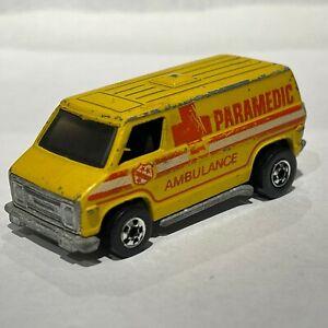 Hot Wheels Blackwall Paramedic Van Yellow Hong Kong 1976 Good