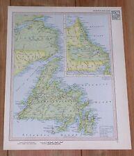 1951 ORIGINAL VINTAGE MAP OF NEWFOUNDLAND LABRADOR / CANADA