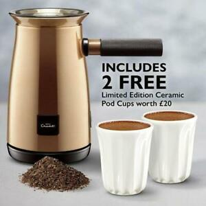 Hotel Chocolat Velvetiser Hot Chocolate Machine Copper With Free 2 Cups Grade A