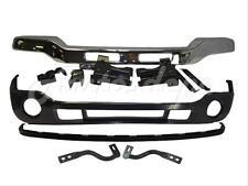 Bundle 03-07 Sierra 2500 Hd Front Bumper Chrome Bar Valance Bracket Brace W/Hole