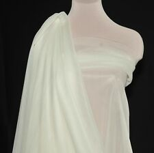 """NYLON TRICOT KNIT  SHEER LINGERIE FABRIC IVORY  108"""" WIDE BTY"""