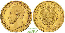 Z107) J.284 SCHAUMBURG LIPPE 20 Mark 1874 Adolf Georg, 1860-1893
