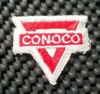 """CONOCO GAS OIL EMBROIDERED SEW ON PATCH ADVERTISING PETROLIANA 1 7/8"""" x 1 1/2"""""""