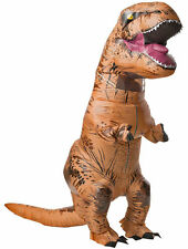 Adult Inflatable T-Rex Jurassic Park World Blowup Costume DINOSAUR Party Gift