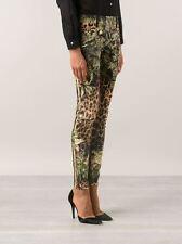 $2K BALMAIN PARIS Leopard JUNGLE Print DENIM Skinny LOW RISE Jeans ZIP ANKLE