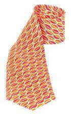 M C ESCHER's LEAVES Inspired Museum Art Design Beautiful Silk TIE Red