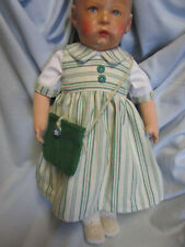 Trägerkleid+Bluse+Filztasche -paßt KK-Puppe 1 o.Hampelchen  UVP 28,90 Euro