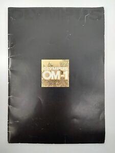Olympus OM-1 original 1973 printed large format 33 page sales book