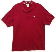 Men's Vintage Izod Lacoste Red Cotton Polo Shirt Medium M